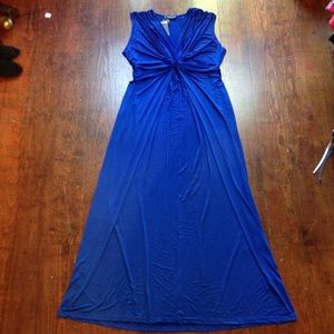 Beautiful royal blue evening gown
